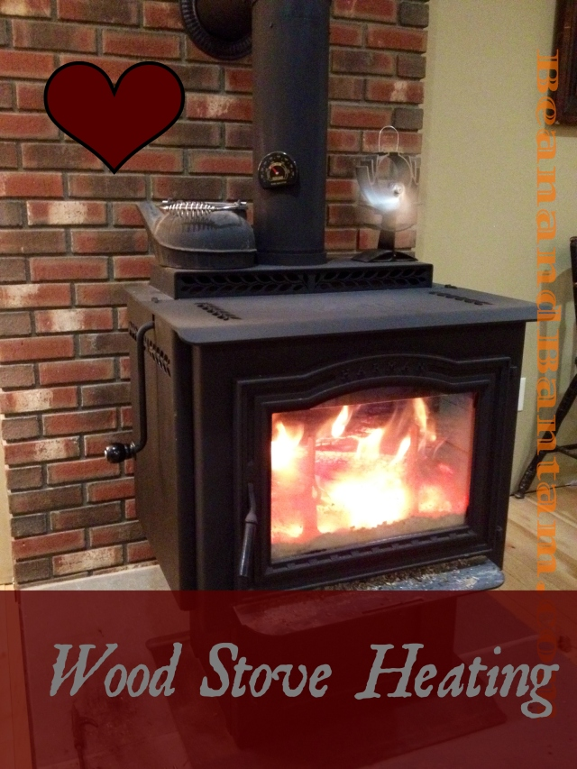 Heating with a wood stove, on our homestead, during the Vermont winter