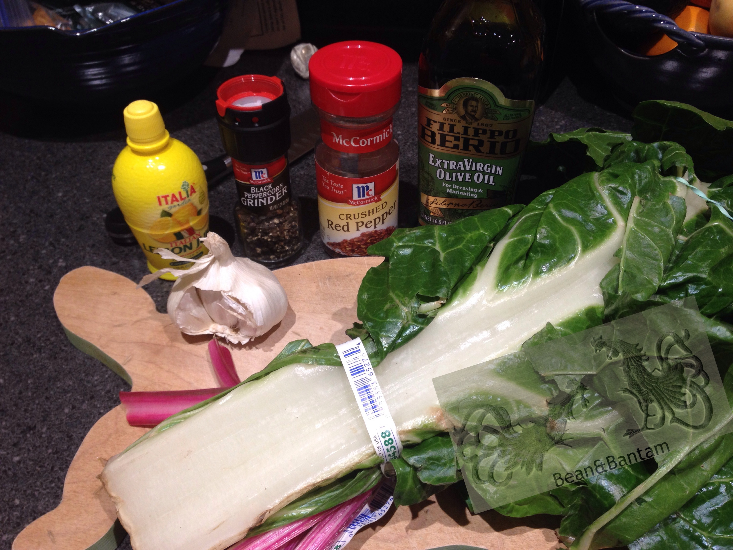 ingredients for chard recipe