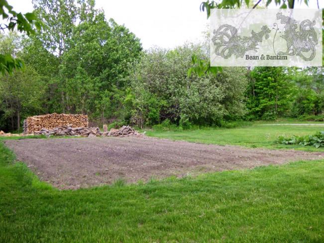 Freshly tilled earth in the garden