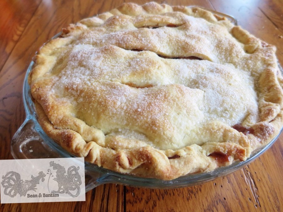 Make pie from scratch: crust made from real butter is better, and easy to make. This one is nicely browned out of the oven. Recipe at Bean & Bantam.