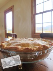 Make pie from scratch: crust made from real butter is better, and easy to make. This one is just out of the oven and you can see the steam rising from the freshly baked pie! Recipe at Bean & Bantam.