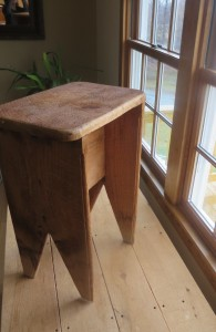 Small table made out of rough cut lumber, found in Shaftsbury, Vermont
